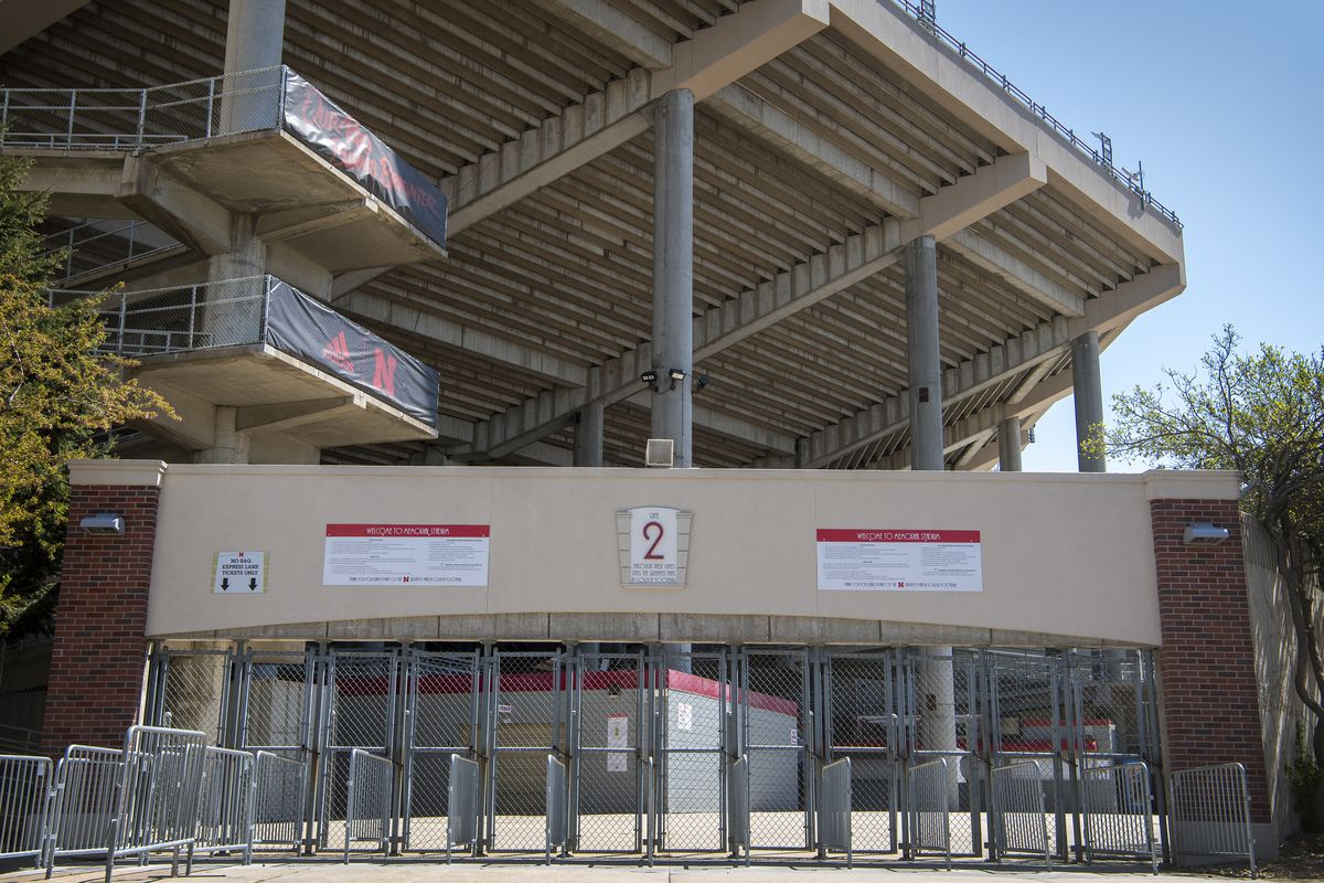 Nebraska's Memorial Stadium is empty because the annual Red-White matchup was cancelled due to the coronavirus pandemic.