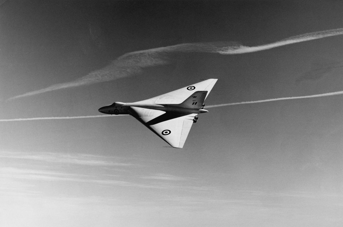 A prototype of the Avro Vulcan bomber in 1955. (SSPL/Getty Images)