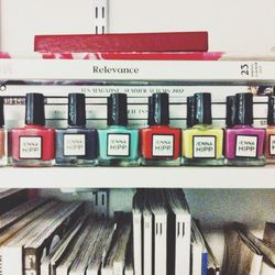 Stella Bugbee, our editorial director, and I love these <b>Jenna Hipp</b> polishes, which have fun names like 'I Surf With Boys.'