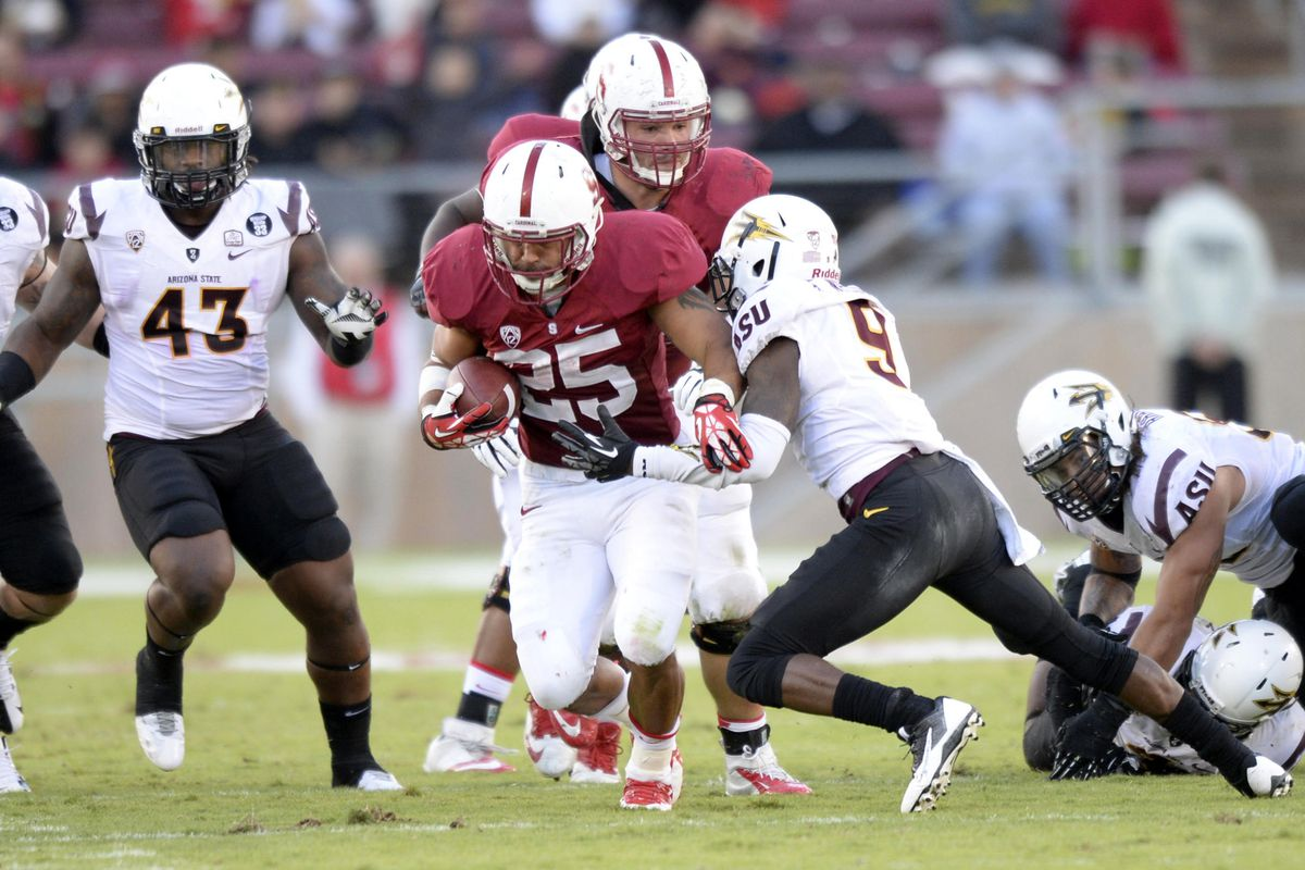 The Stanford Cardinal ran right by Arizona State last Saturday.
