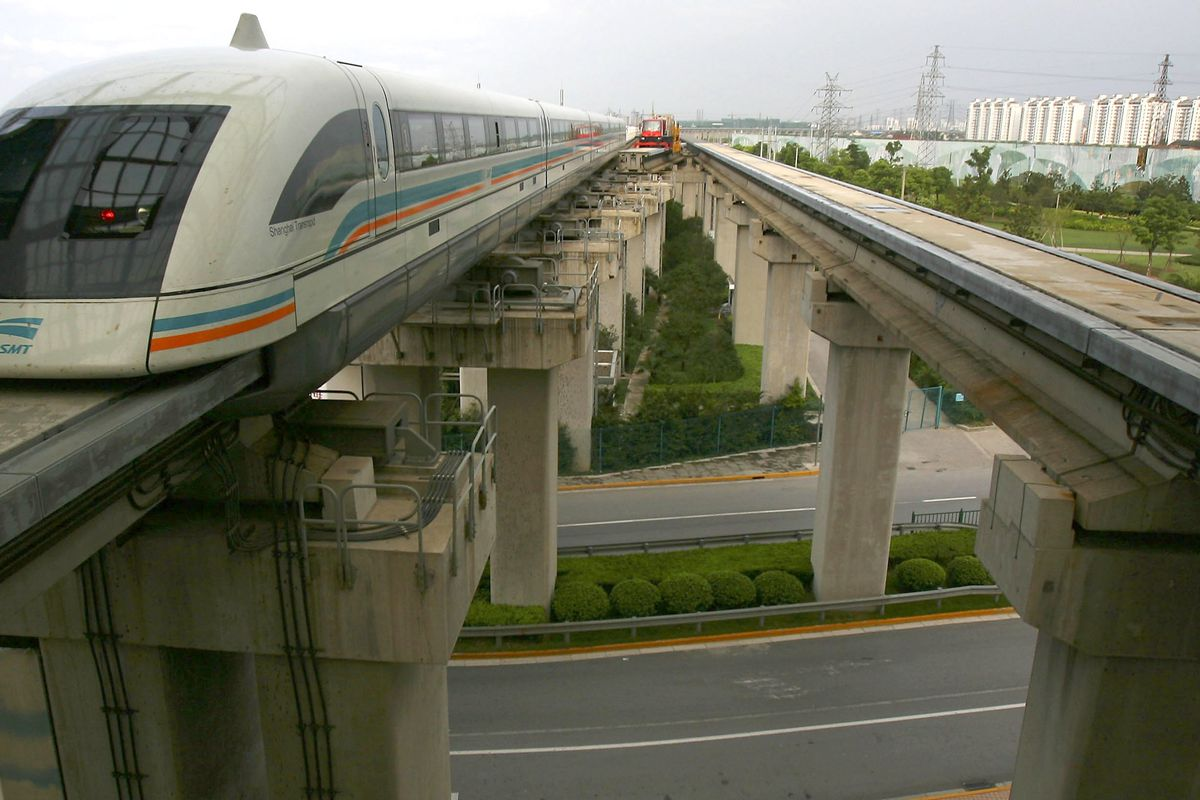 China is building a magnetic levitation train that can go an