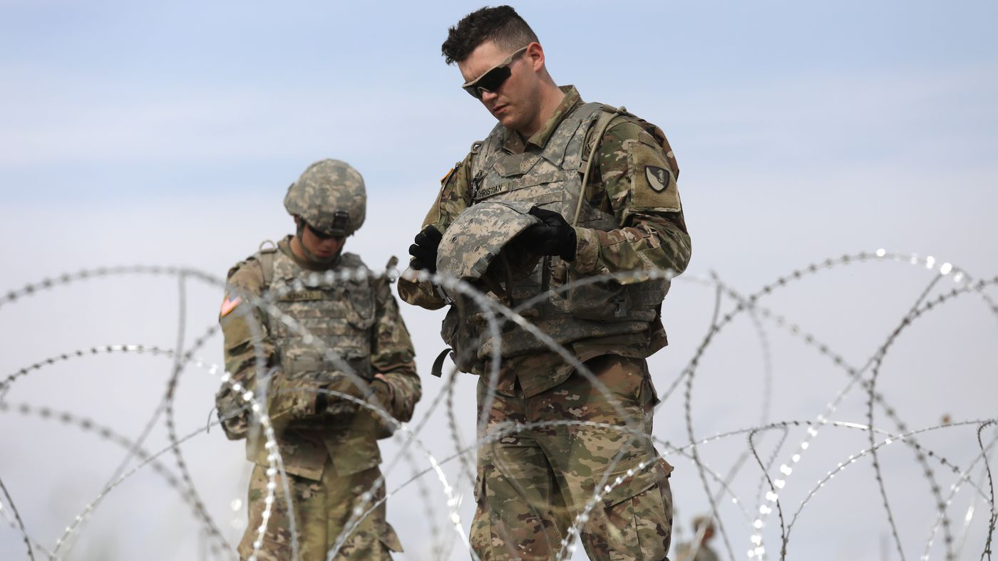 """Trump laments that US troops can't get """"rough"""" with migrants at the border"""