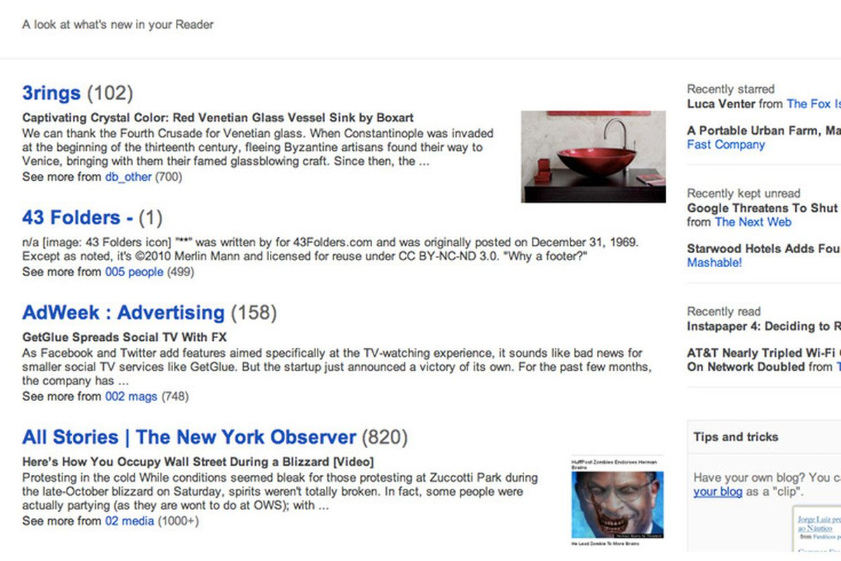821bc50eecd Google Reader redesign rolling out today with Google+ integration ...