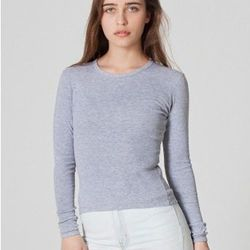 """<a href= """"http://store.americanapparel.net/product/?productId=4307dl"""">Baby rib long-sleeve tee</a>"""