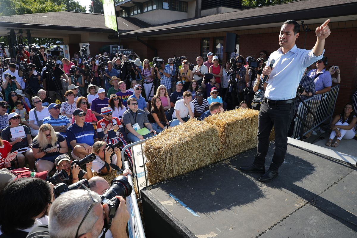 Julian Castro speaks during the Iowa State Fair