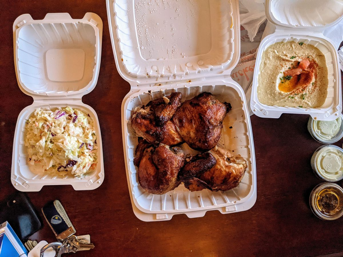 Rotisserie Chicken from Chicken Dijon in Redondo Beach.
