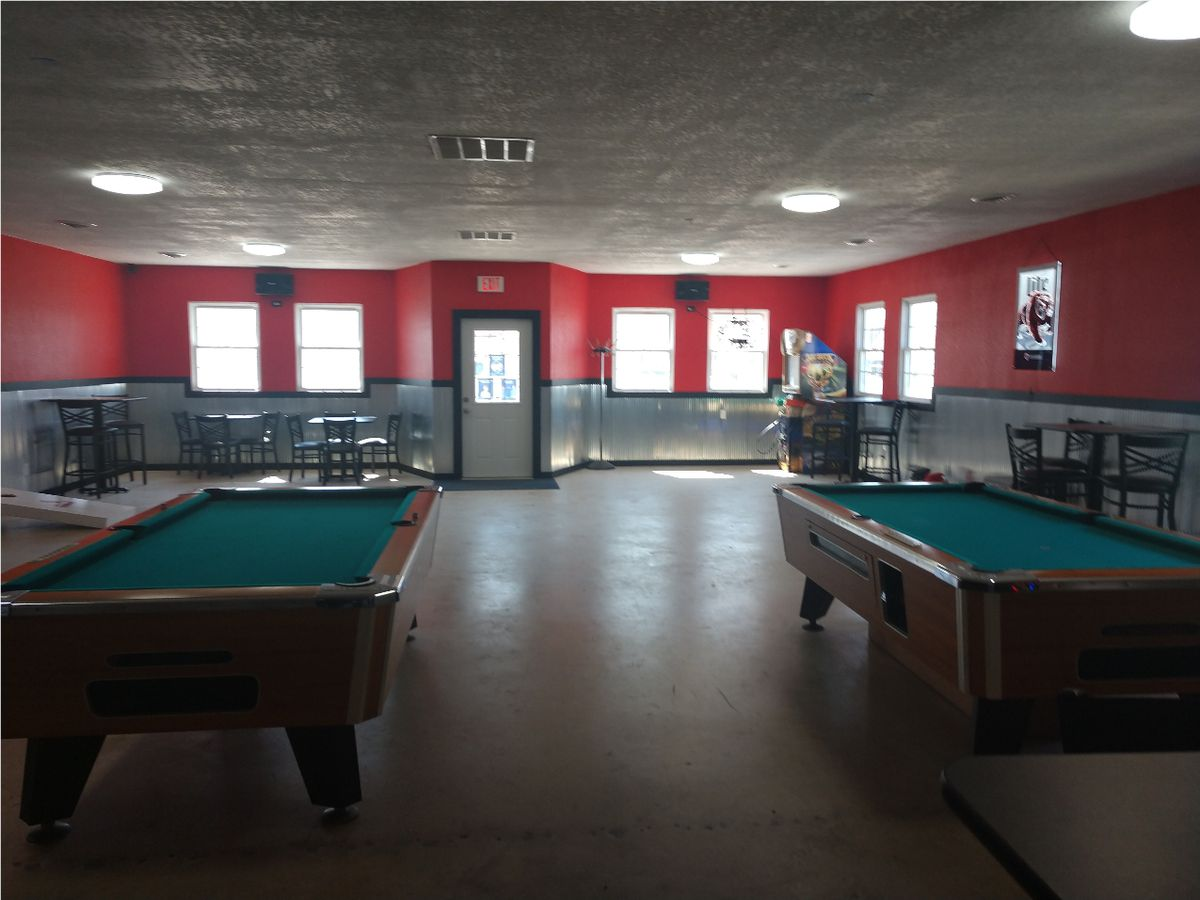 Pool tables in the Embarras bar in Villa Grove, Ill., on Tuesday.