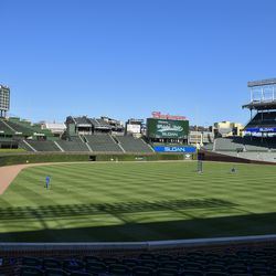 Wrigley Field on the first day of Summer Camp, July 3