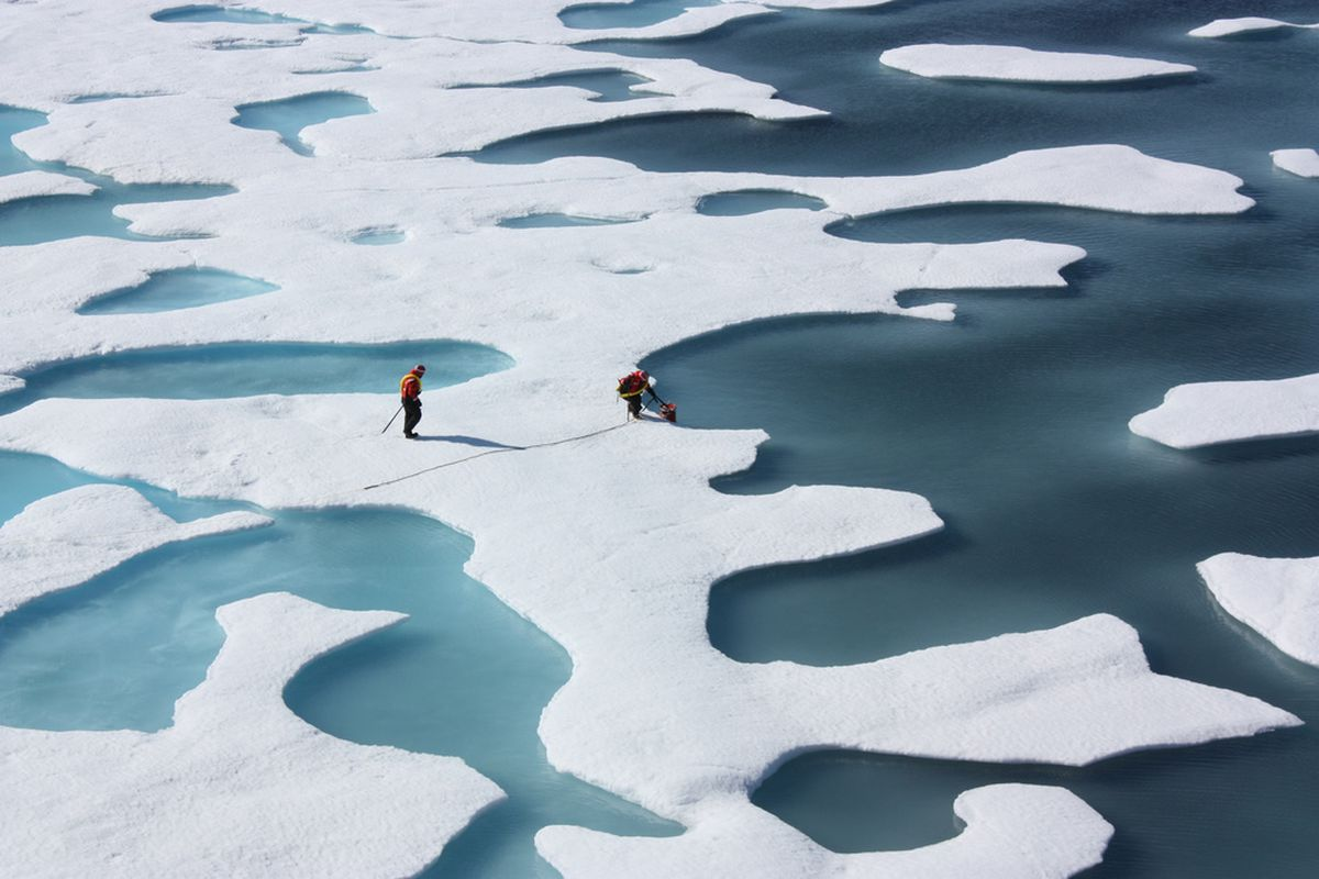 NASA ICESCAPE, melt ponds on Arctic sea ice