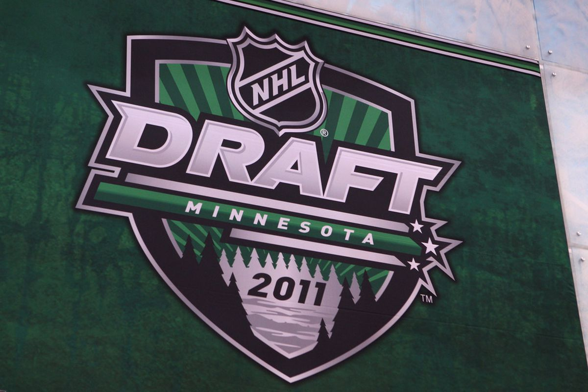 ST PAUL, MN - JUNE 24:  A banner is displayed at the Xcel Energy Center before the start of day one of the 2011 NHL Entry Draft on June 24, 2011 in St Paul, Minnesota.  (Photo by Bruce Bennett/Getty Images)