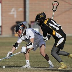 Roy plays Mountain Crest in the Battle at the Beet boys lacrosse tournament at Jordan High School in Sandy on Friday, March 12, 2021.