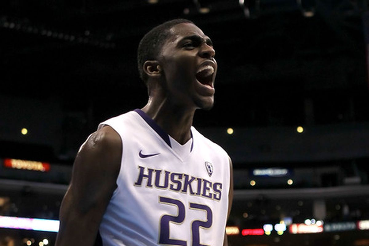 Justin Holiday as a member of the University of Washington Huskies, now with the Idaho Stampede in the NBA D-League
