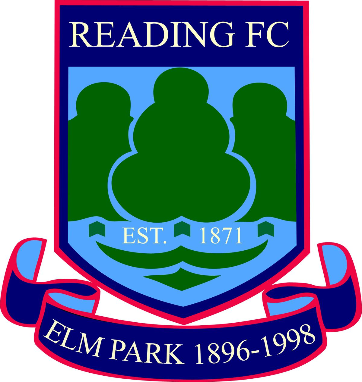 old Reading badge