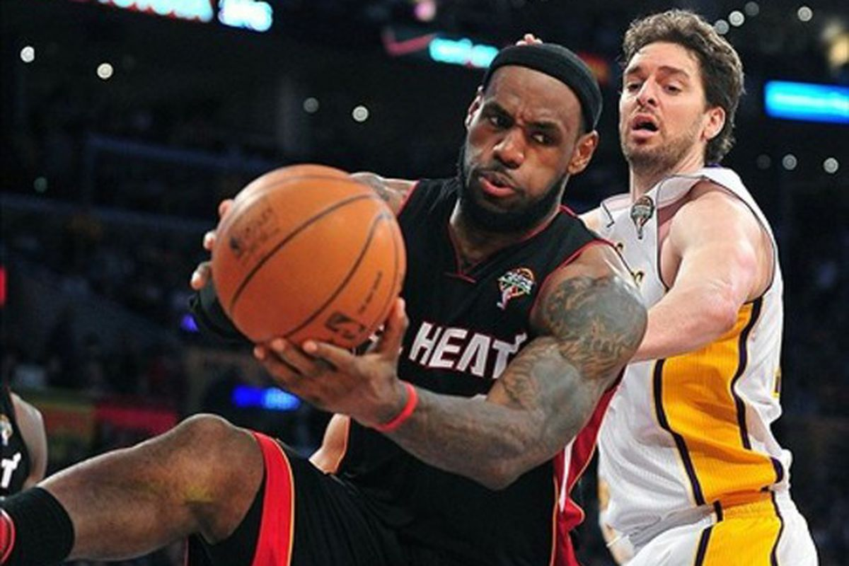Miami will need LeBron James to chip in with rebounding tonight.