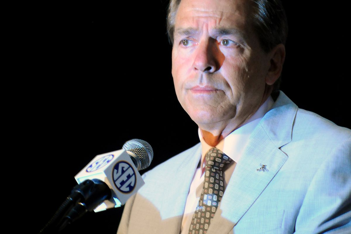 Nick Saban would like reporters to stop hijacking the season by making predictions through the coaches.
