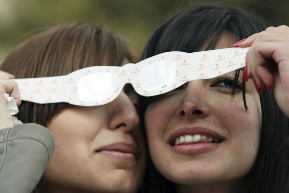 Skywatchers Wait For The Total Eclipse Of The Sun