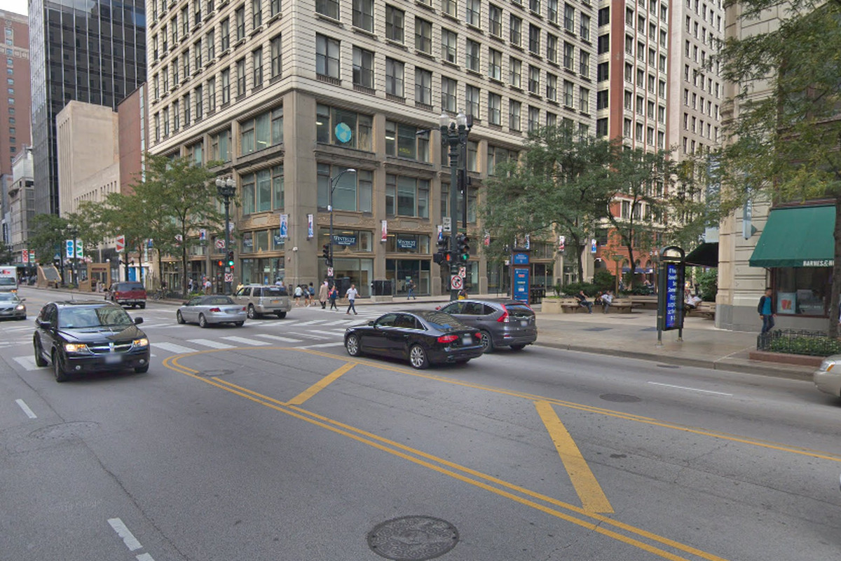 Two Chicago police officers were injured in a vehicle crash Feb. 19, 2020 in the Loop.