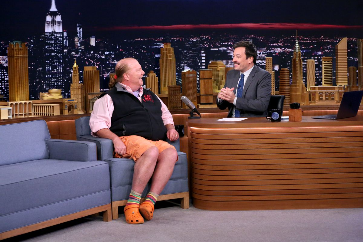 50b13036b004b Mario Batali Forsakes His Beloved Crocs for Yeezys - Eater