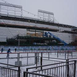 The ice rink, at Gallagher Way