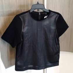 Perfect sportswear-inspired leather tops for fall ($125)