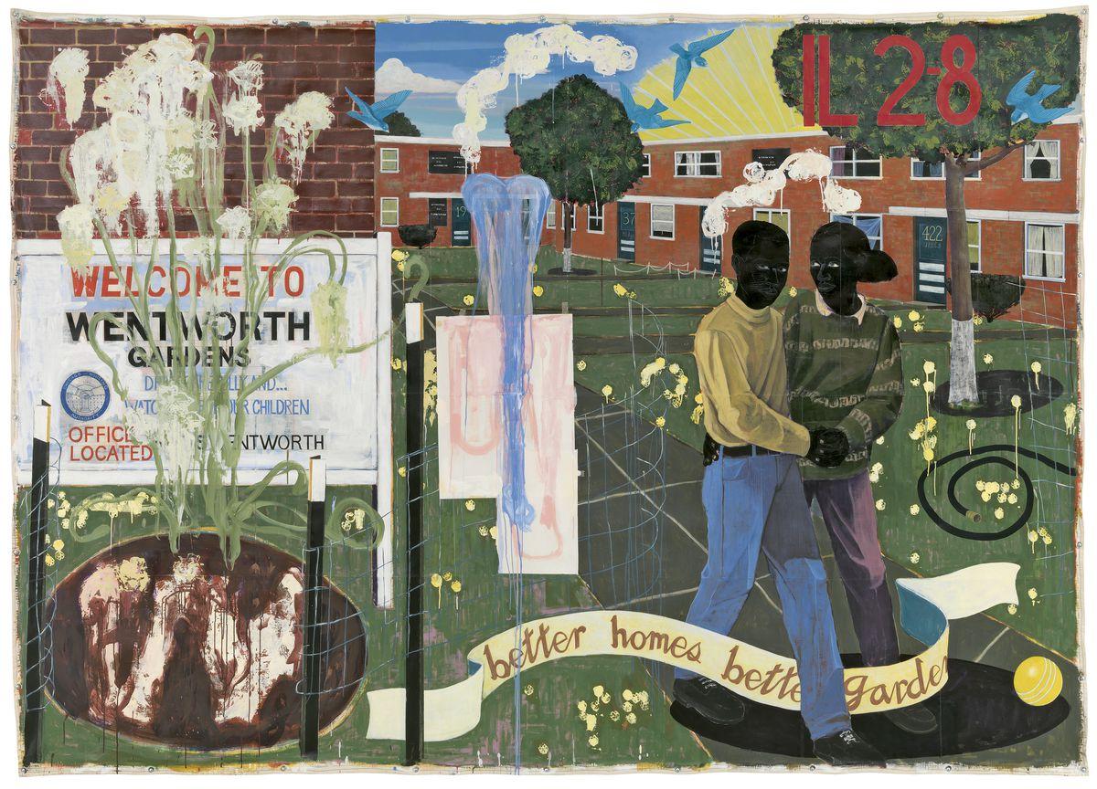 Kerry James Marshall, Better Homes, Better Gardens, 1994. Denver Art Museum Collection. | © Kerry James Marshall. Photo courtesy of the Denver Art Museum.