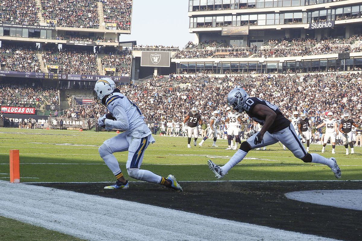 Chargers Raiders Final Score Los Angeles Chargers Defeat