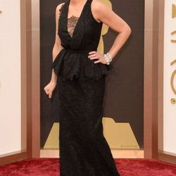 A blonde Julia Roberts, nominated for Best Supporting Actress for <em>August: Osage County</em> wore Givenchy Haute Couture by Riccardo Tisci, coming soon to Wynn Las Vegas and Bulgari jewels, found at the Shops at Crystals.