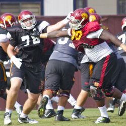 Greg Townsend Jr. (#93) could see extended playing time if Leonard Williams can't play.