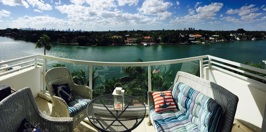 intracoastal view from the balcony of a condo.