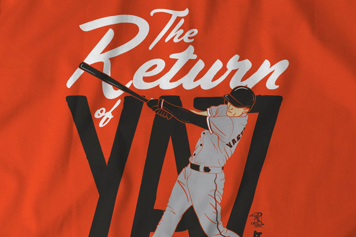 online store 76c47 41b10 The Return of Yaz shirt by BreakingT - McCovey Chronicles