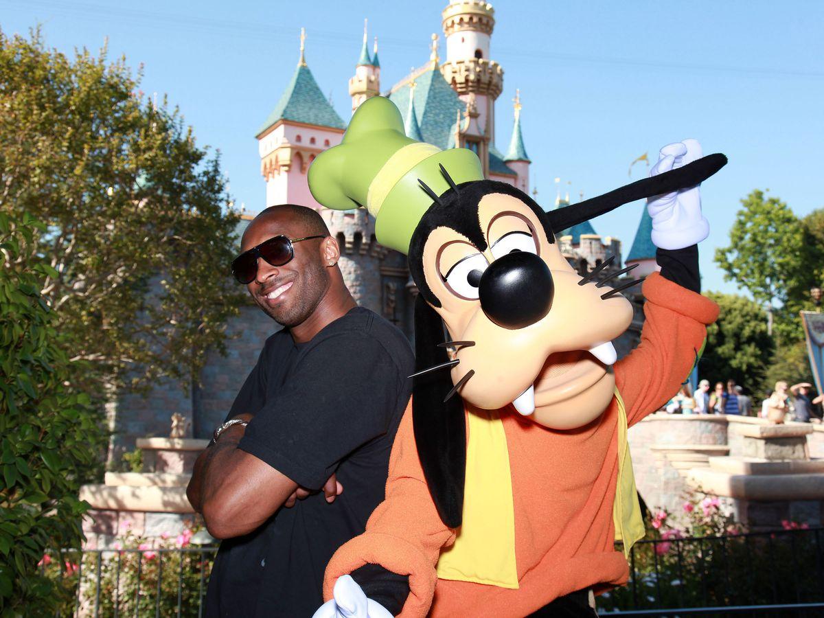 Kobe Bryant And Family Celebrate NBA Championship At Disneyland