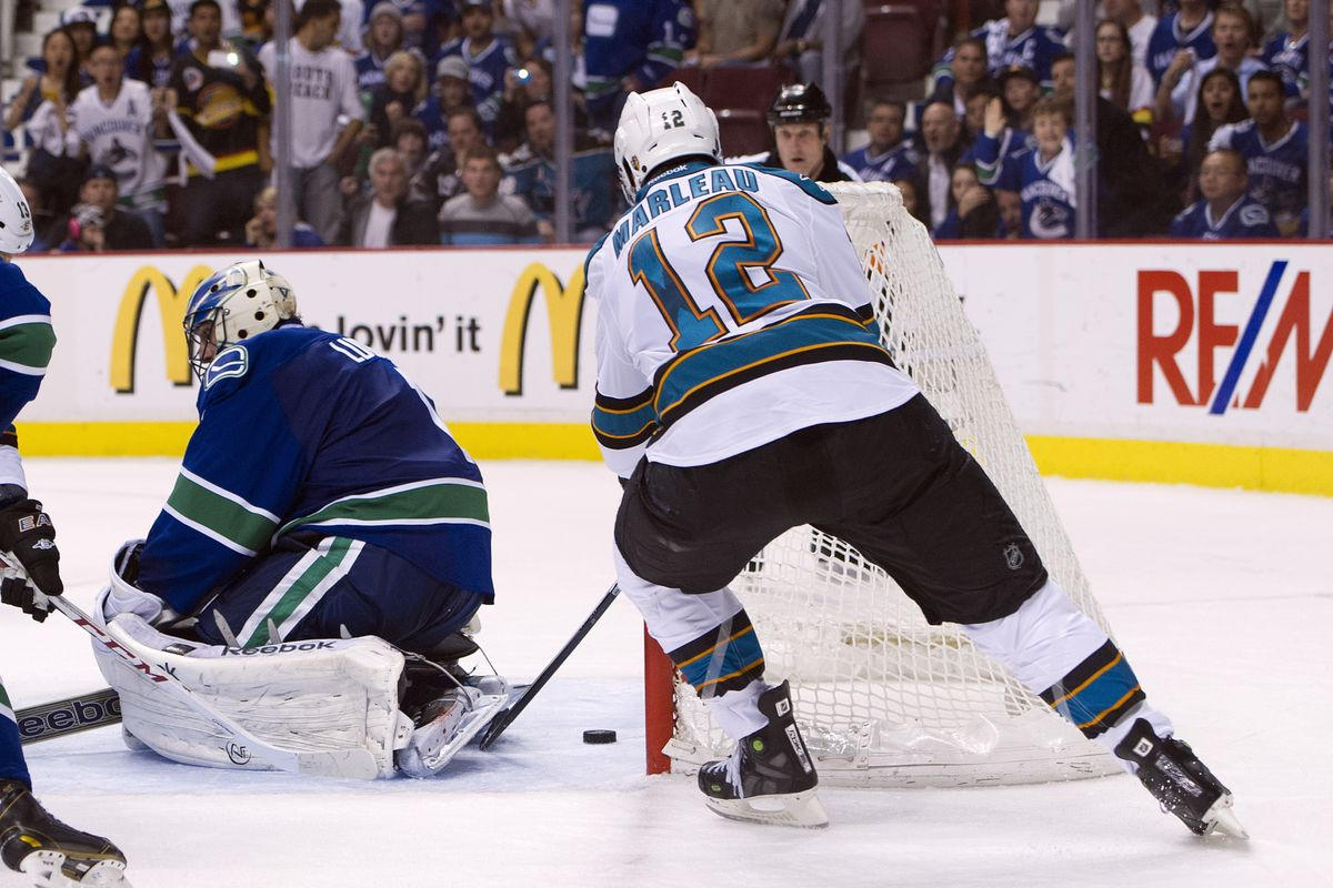 Patrick Marleau just never goes to the net in the playoffs.