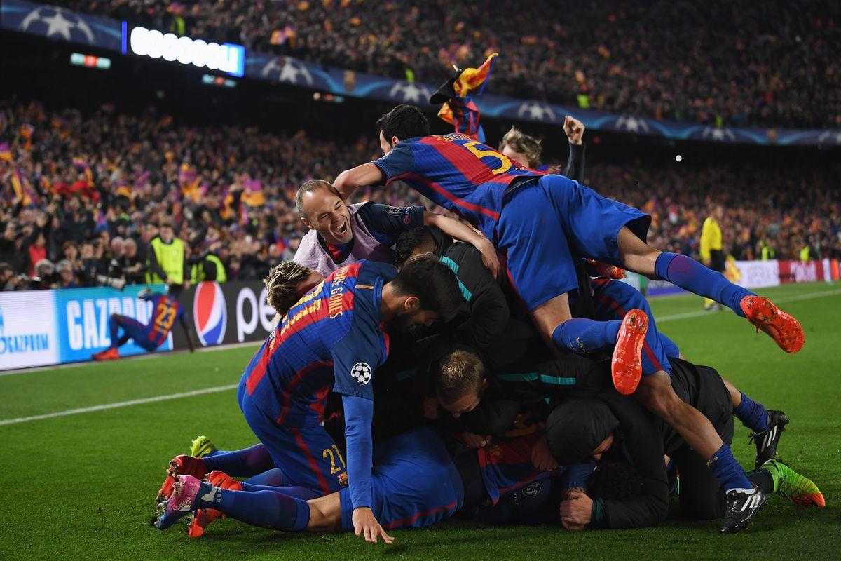 Image result for barcelona vs psg 6-1