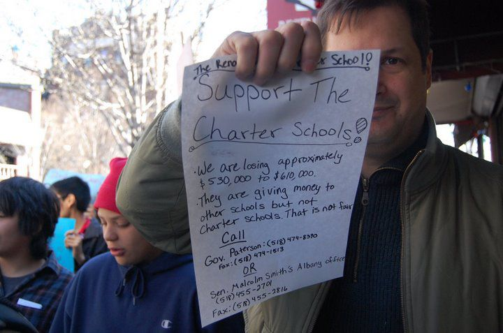 A Queens charter school encouraged parents and students to call Governor David Paterson and Senate Majority Leader Malcolm Smith after it learned charter schools could see their funding frozen. Paterson and Smith are now sending the schools $30 million. (##http://picasaweb.google.com/teach11372/RenaissanceCharterRallyAndMarchAgainstCharterCuts#5319497282636828866##Nicholas##)<br />