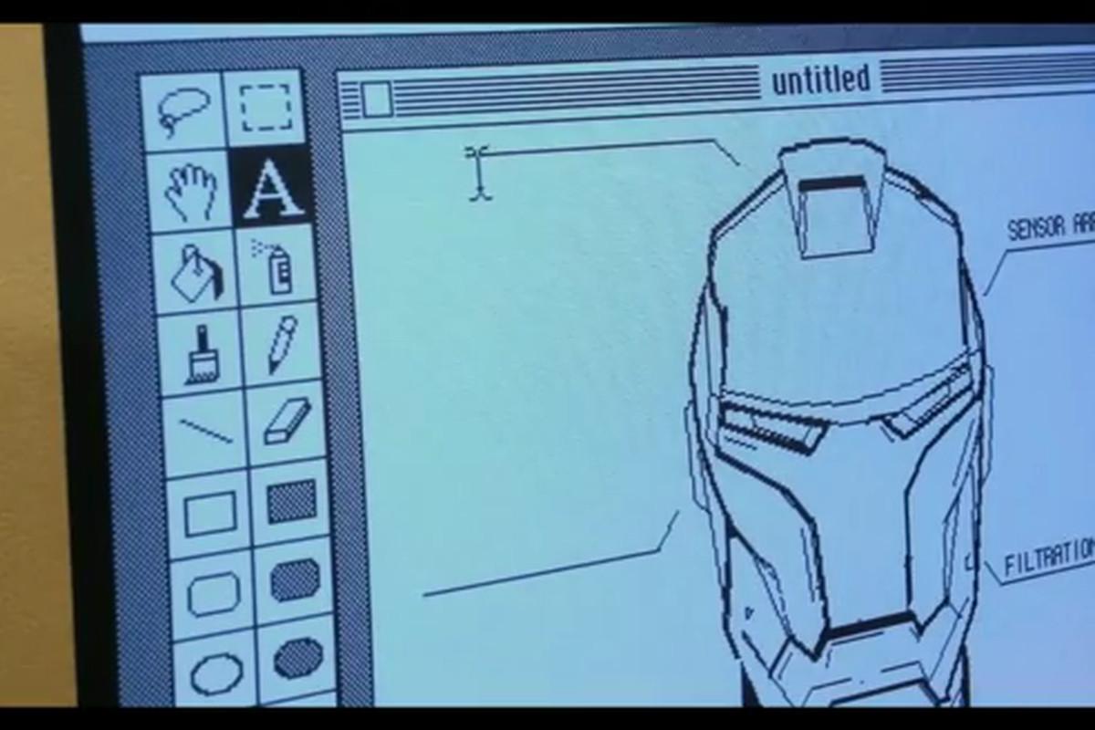 MacPaint Iron Man