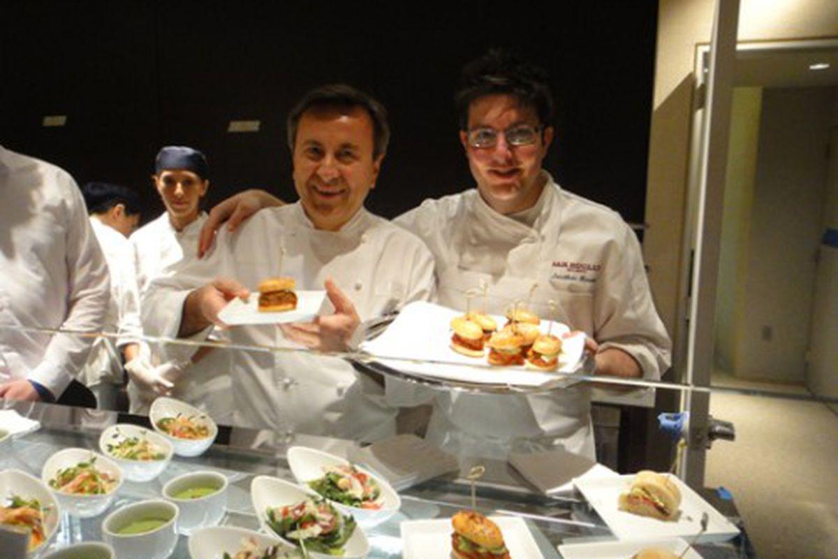 Dman with Epicerie Boulud Executive Chef Jonathan Kinsella.