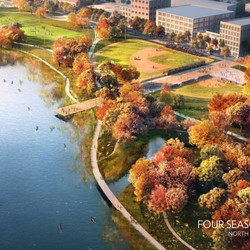 Rendering of proposed parkland within Lincoln Yards. | North Branch Park Preserve