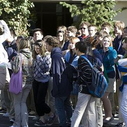 Students at the Beehive Academy walk out of classes May 6 to protest the decision to shut down their school.