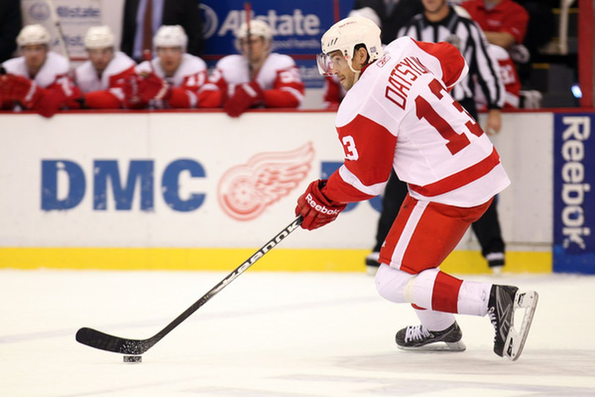 Datsyuk in the neutral zone?  I didn't think he ever came out that far!