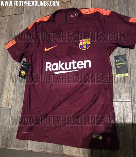 newest 89883 43ec6 New pictures of Barcelona's 2017-18 third kit leaked - Barca ...