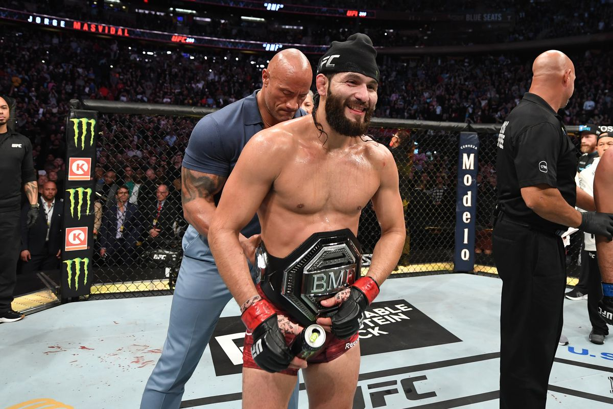 UFC 244: Jorge Masvidal vs Nate Diaz with Dwayne The Rock Johnson mma ufc wrestling news