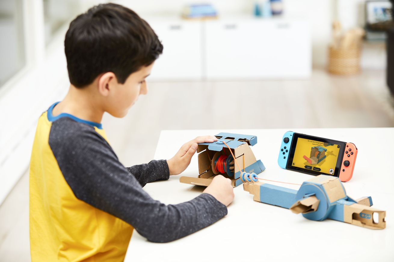 nintendo is making a bunch of weird diy cardboard toys for the switch and they re awesome