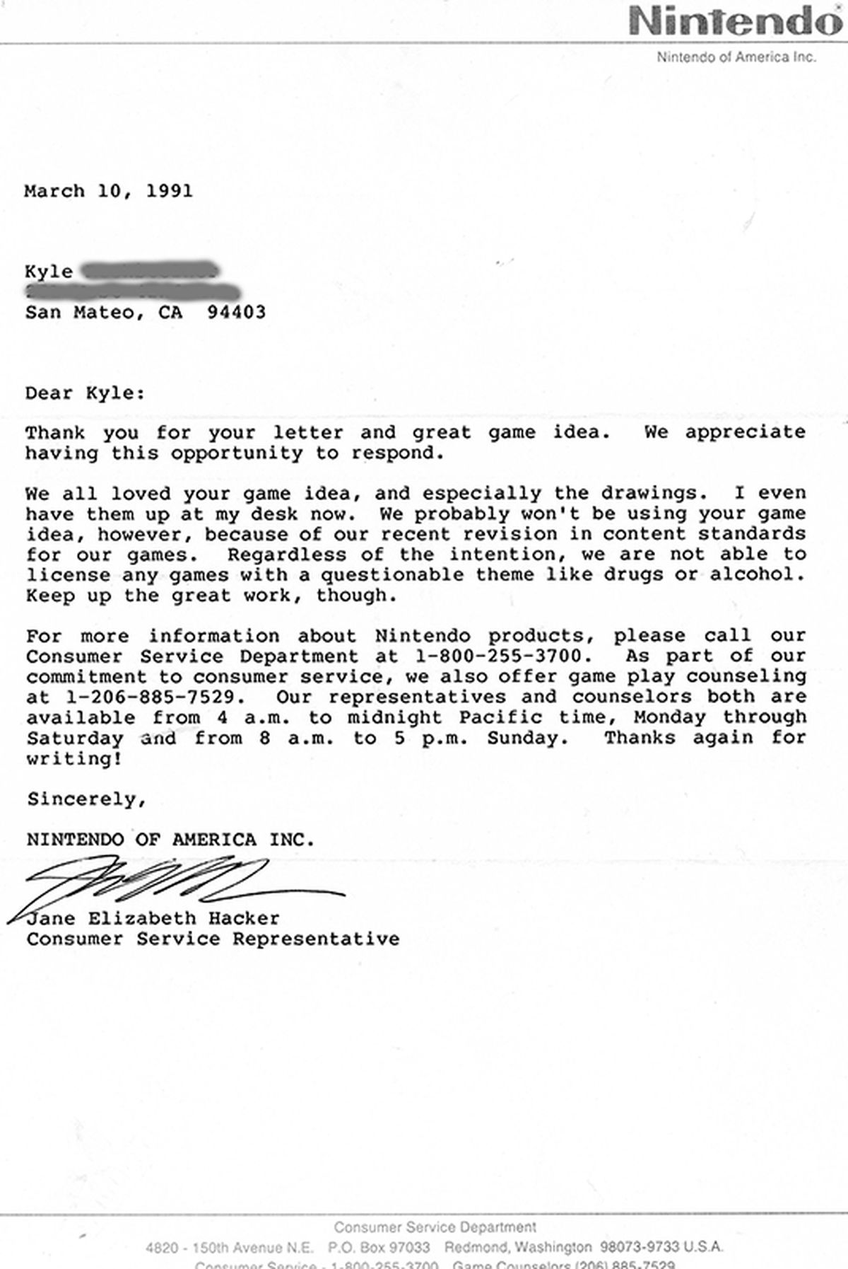 This Mega Man Rejection Letter From  Tells The Story Of A