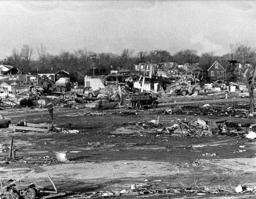 Some veterans likened the devastation seen in Oak Lawn to that of war-ravaged cities.