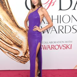 Alessandra Ambrosio in Michael Kors Collection, Christian Louboutin heels, and Chopard jewelry