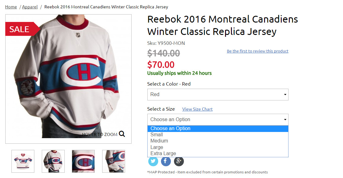 6a0b715bfe8 Winter Classic jerseys  Big discounts are showing up - Stanley Cup ...