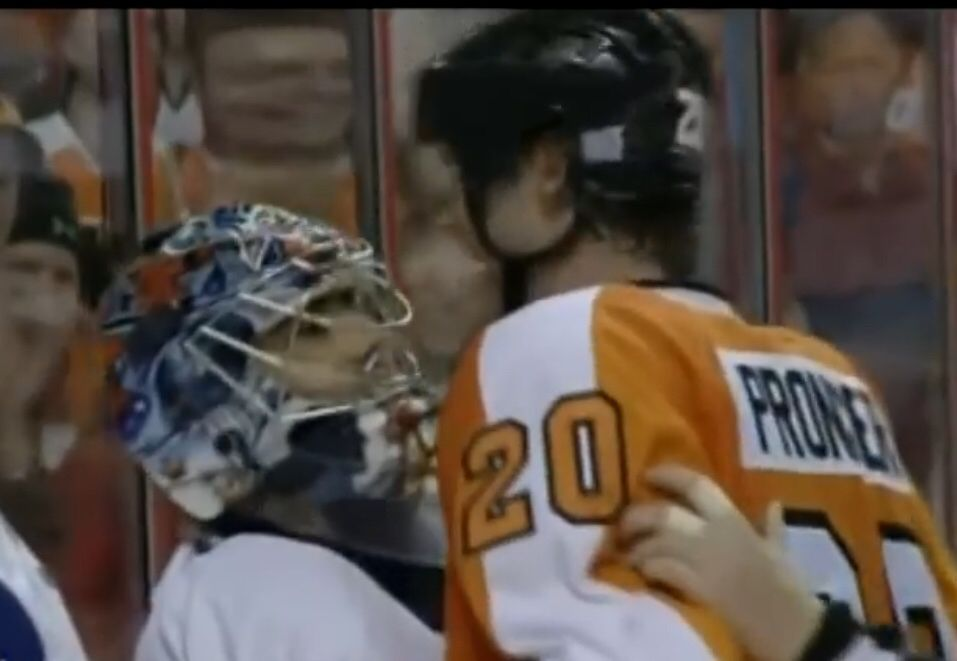 ... Pronger laughed in his face… Still courtesy of Hockey Fights . 41dd6f851