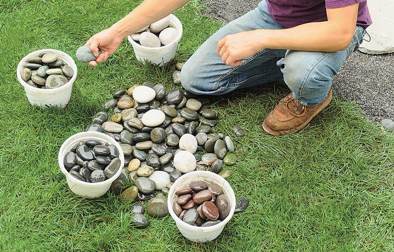 Sorting Stones For Pebble Mosaic