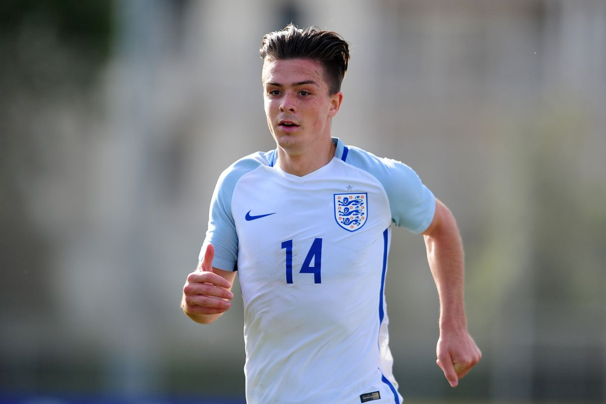 Jack Grealish of England during the Toulon Tournament match between Japan and England at the Stade Leo Lagrange on May 27, 2016 in Toulon, France.