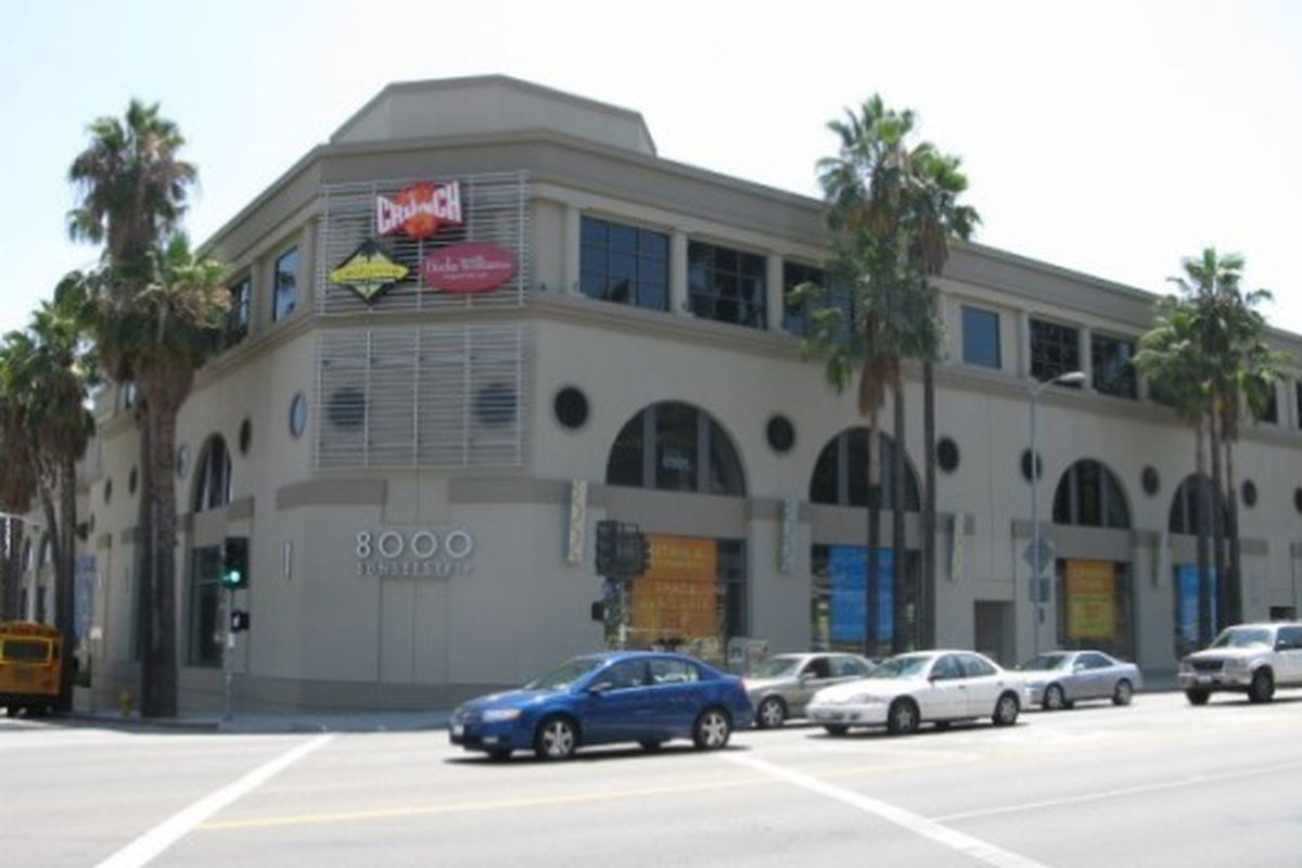 """Crunch on Sunset. Photo via <a href=""""http://la.curbed.com/places/8000-sunset"""">Curbed</a>."""